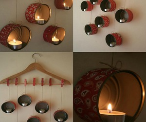 candle, decoration, and diy image