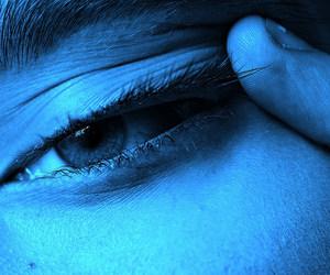 blue, eyes, and glow image
