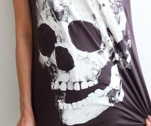 fashion, skull, and t-shirt image