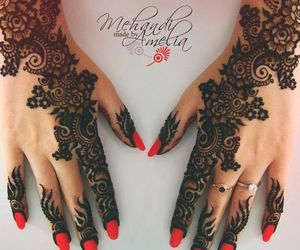 henna, art, and beautiful image