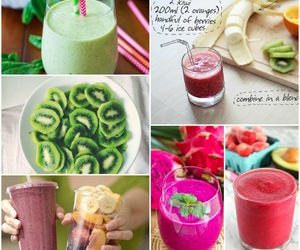 Collage, drink, and smoothies image
