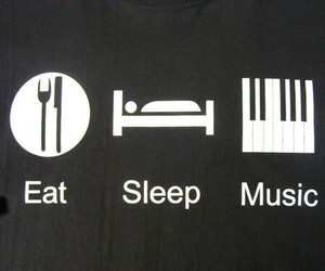 eat, life, and music image