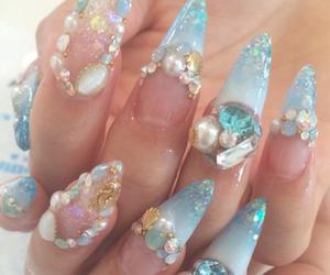 kawaii, nails, and art nail image