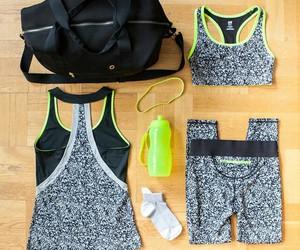 green, H&M, and socks image