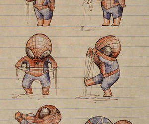 spiderman, drawing, and funny image