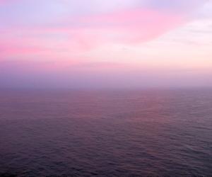 sky, sea, and pink image