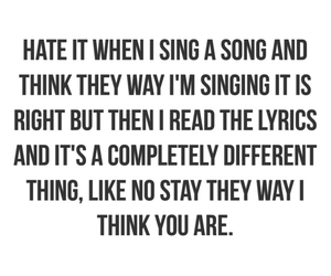 funny, hate, and Lyrics image