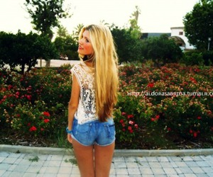 flowers, shorts, and style image