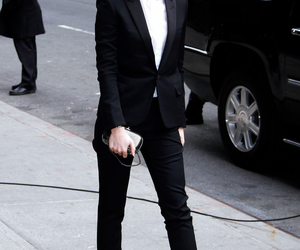 emma watson, style, and suit image