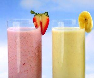 food, smoothie, and banana image