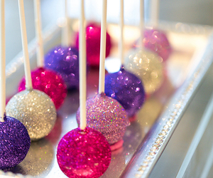 glitter, pink, and food image