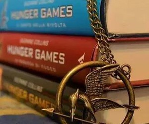 book, catching fire, and the hunger games image