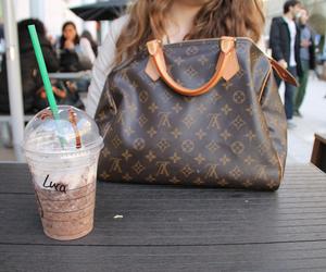 fashion, starbucks, and Louis Vuitton image