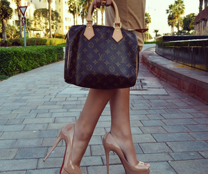 fashion, bag, and heels image