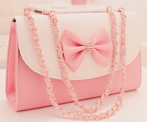 pink, bag, and girly image