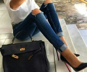 bag, style, and jeans image