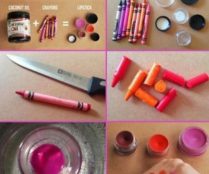 lipstick, diy, and crayon image
