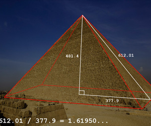 art, golden ratio, and egypt image