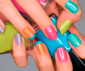 nails, colors, and blue image