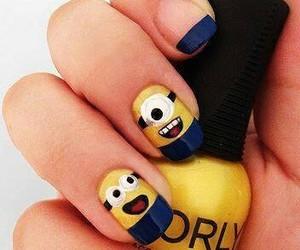 blue, minions, and nail image