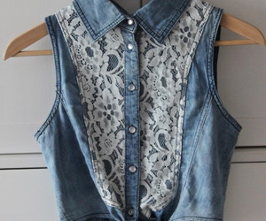blouse, denim, and indie image