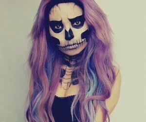 Halloween, hair, and makeup image