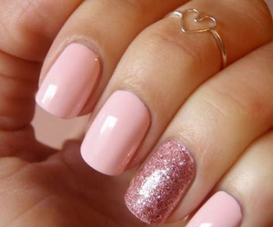 nails, pink, and ring image