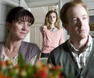 harry potter, hermione granger, and obliviate image
