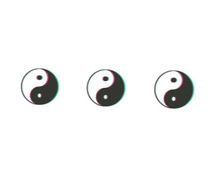 overlay, ying yang, and black and white image