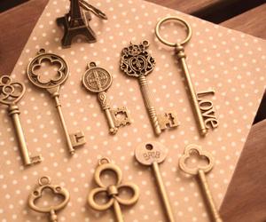 key, vintage, and cute image
