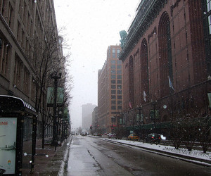chicago, city, and cold image