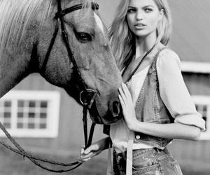 girl, horse, and model image