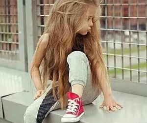 kids, hair, and converse image