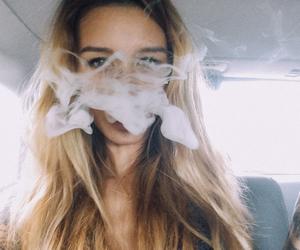 girl, smoke, and blonde image