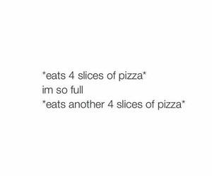 funny, pizza, and true image