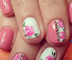 nails, fashion, and spring image