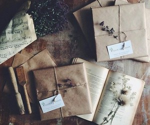 vintage, book, and letters image