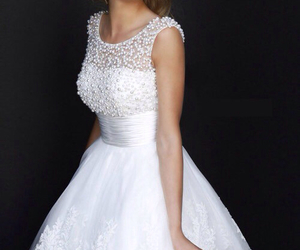 dress, white, and sherri hill image