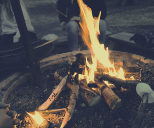 fire, grunge, and hipster image