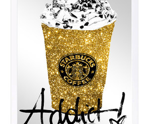 addict, gold glitter, and art image