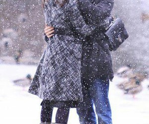 snow, love, and kiss image