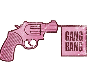 gang bang, gun, and illustration image