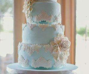 cake, sugar, and wedding image