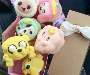 adventure time, food, and macaroons image