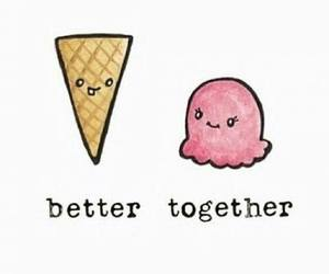 cute, ice cream, and together image