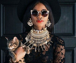 cat, fashion, and model image