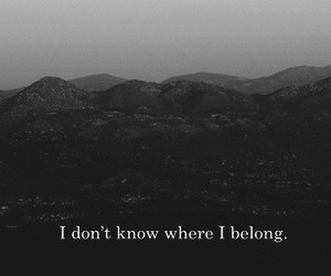 lost, quote, and alone image