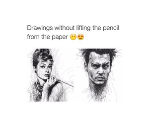 drawing, lifting, and pencil image