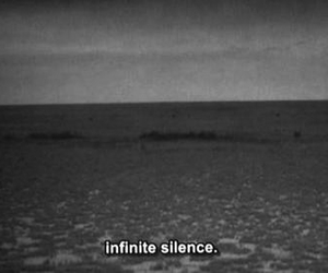 silence, infinite, and quote image