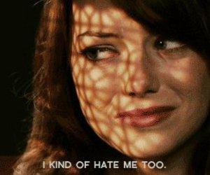 depression, emma stone, and hate image